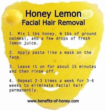 Natural Recipe Facial Hair Removal