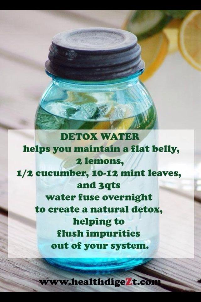 Flat Belly Detox Water 💦👍