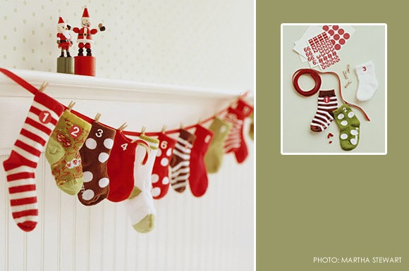 Christmas sock countdown my kids have so many mismatched for Handmade christmas countdown calendar
