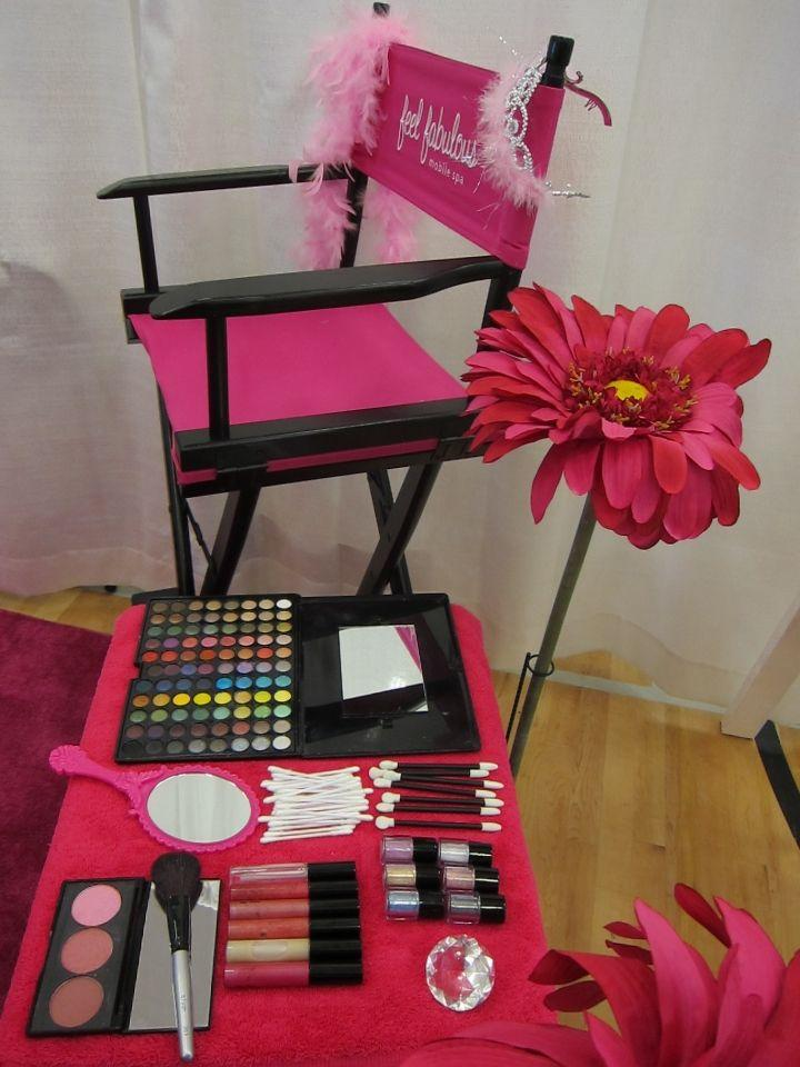 you can set up a make over station for you and the other moms involved ...