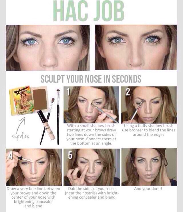 how to make nostrils look smaller with makeup