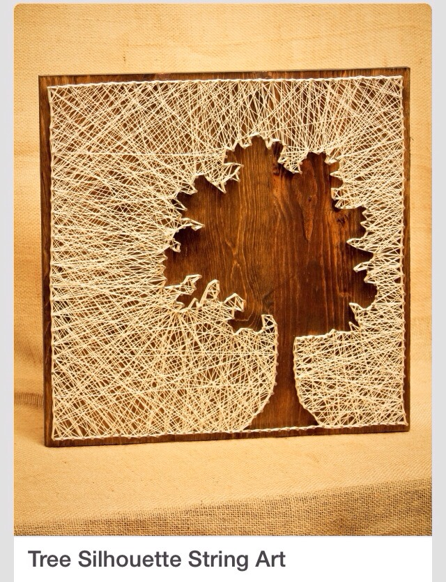 Amazing Diy Tree Silhouette String Art Trusper