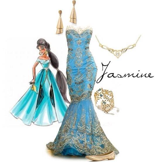 Princess jasmine inspired dress