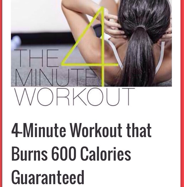 4 Minute Workout That Burns 600 Calories ⏰💪💪