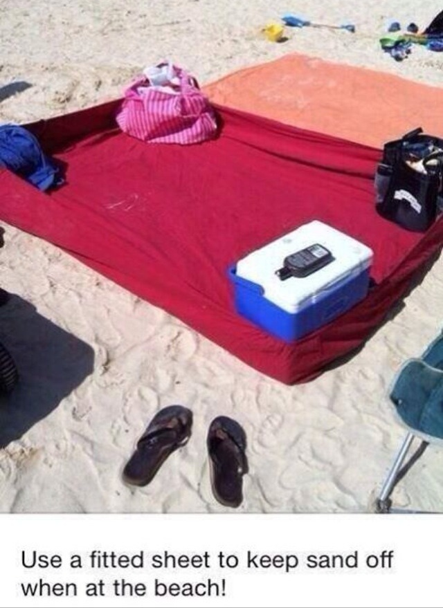 BEST BEACH TIP EVER!!!!!!!
