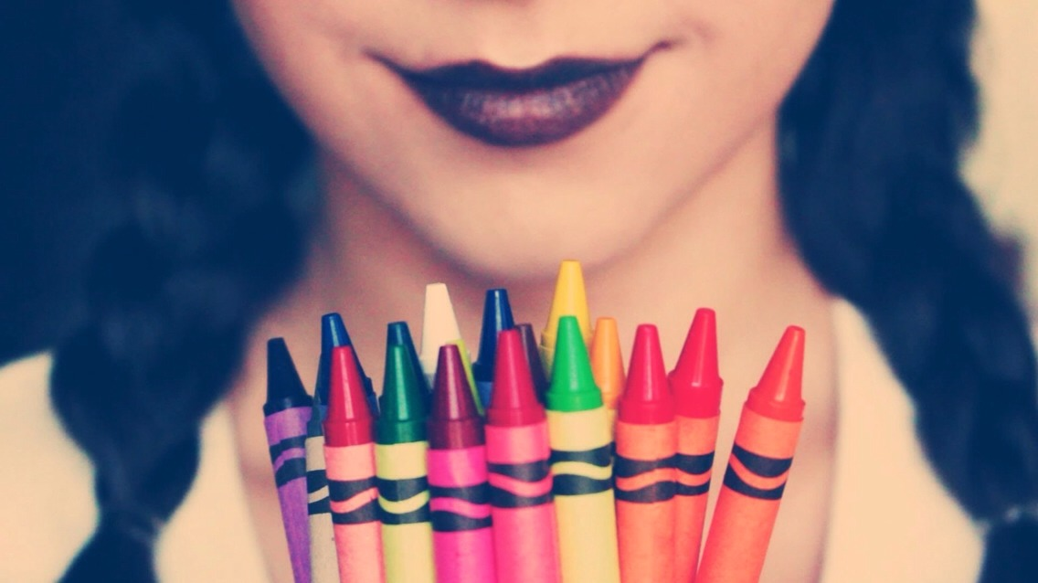 Crayons consist mainly of paraffin wax and non-toxic pigments. Wax is a major component in any lipstick or chapstick, and crayons' pre-mixed pigments will give you more choices, at less cost than either food coloring (I've tried that too) or the powders and gels cosmetic suppliers will .