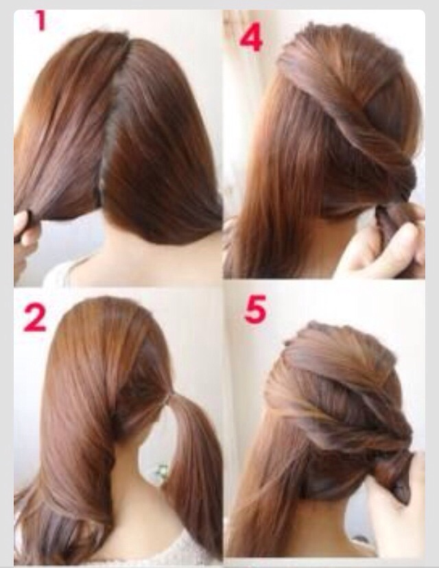 Unique Quick And Easy Hairstyles  Vanity  Pinterest