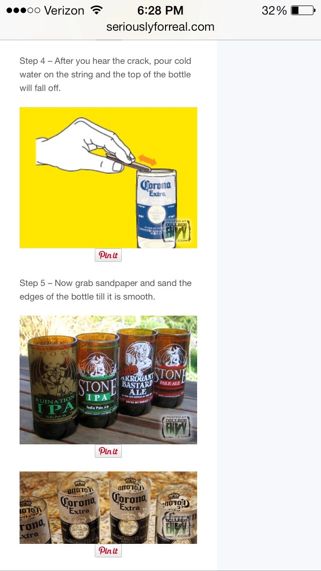 how to make glasses out of beer bottles