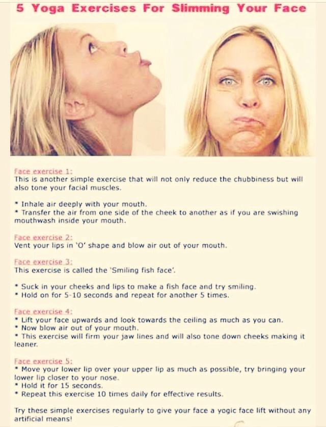 5 Yoga Exercise For Slimming Your Face 😁 | Trusper