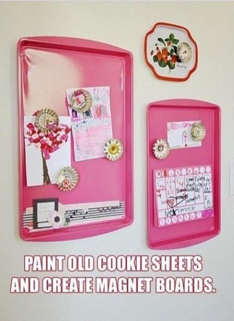 💥❤❤Paint A Cookie Sheet And Use It As A Magnetic Board ❤❤💥