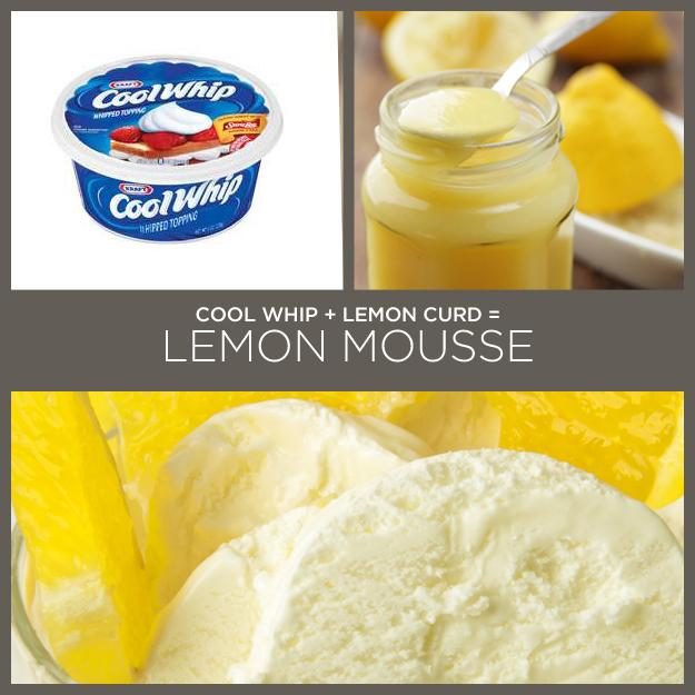 14. Cool Whip + Lemon Curd = Lemon Mousse