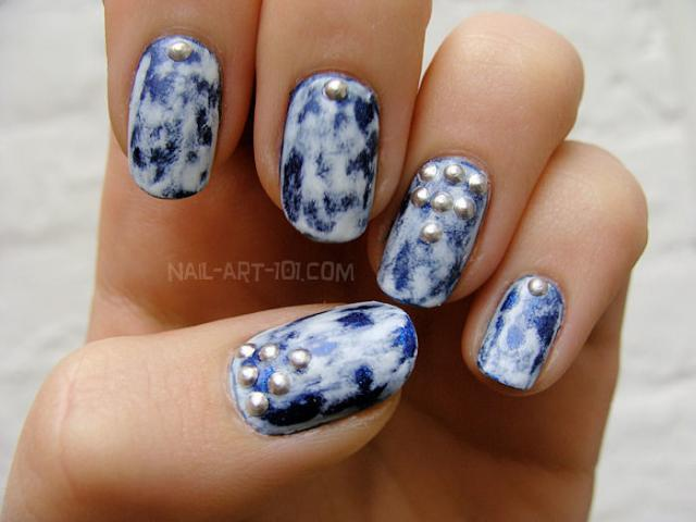 💙✨Acid Wash Denim Nails - LOVE THESE! So Easy Too!💙✨