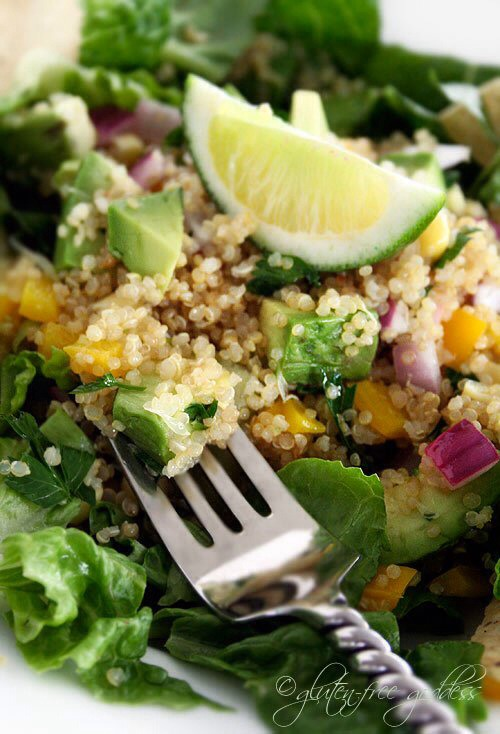 Quinoa taco salad with avocado and lime - perfect for a gluten-free ...