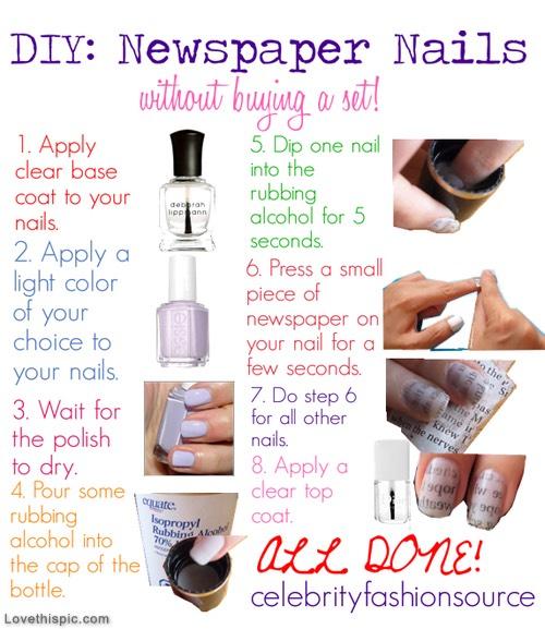 Newspaper Nails!!!!