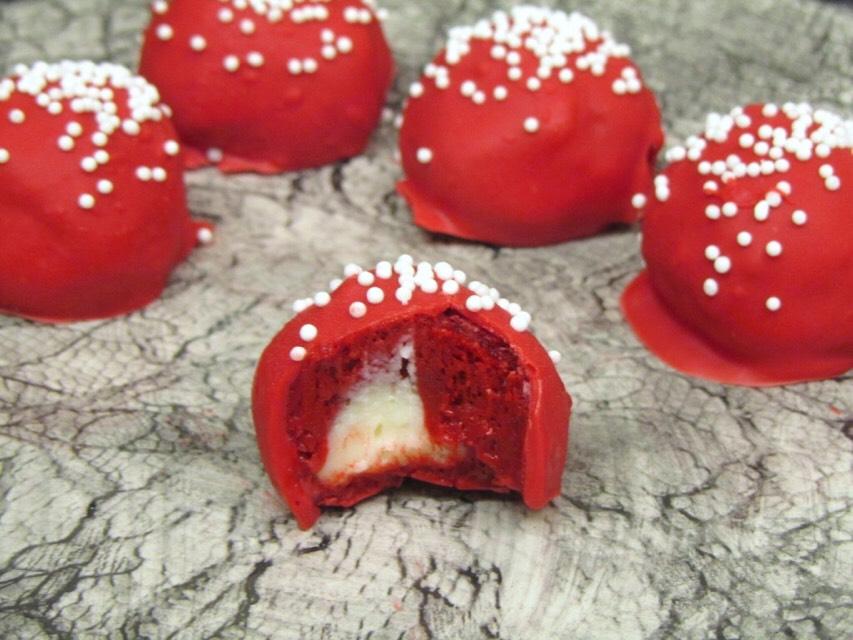 Delicious Stuffed Red Velvet Truffles