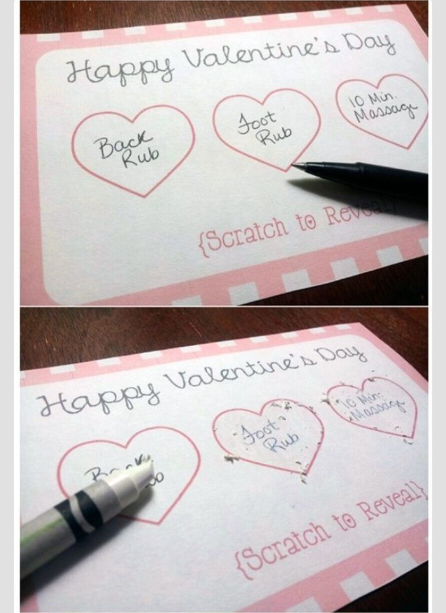 💞 DIY: Scratch Off - Cute Idea For Valentines Day 💞