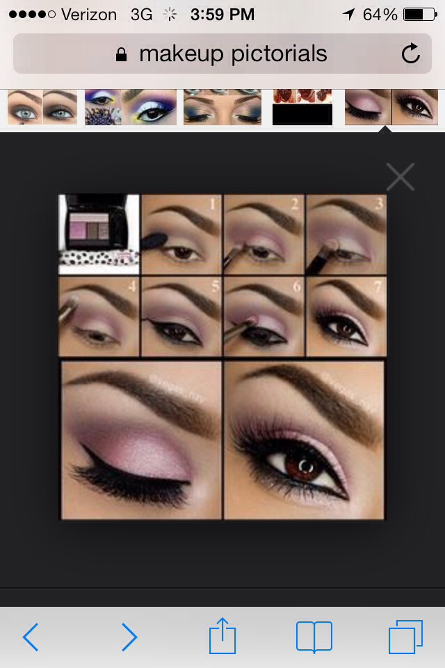 Eyeshadow Pictorial For Brown Eyes