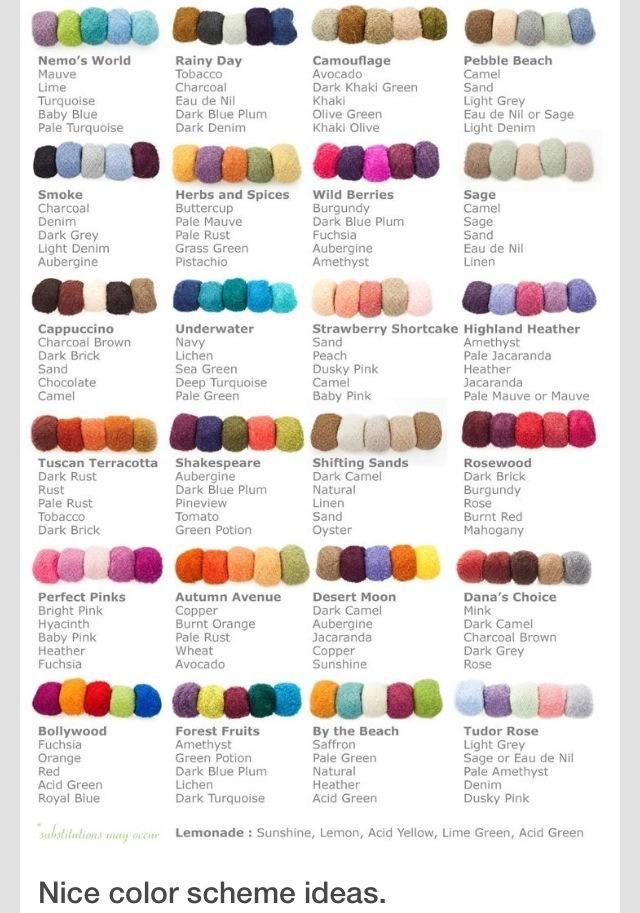 Chart Color Schemes Color Scheme Idea Chart