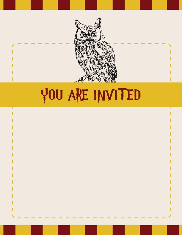 Harry Potter Birthday Party Invitations Printable with perfect invitation ideas