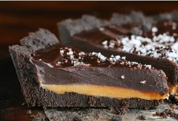 Dark Chocolate Sea Salt Carmel Cheesecake With Oreo Crust!!