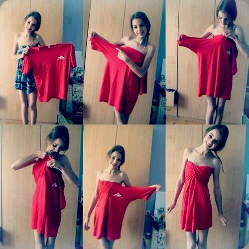 Easy to make dress from a big old shirt trusper for Make a dress shirt