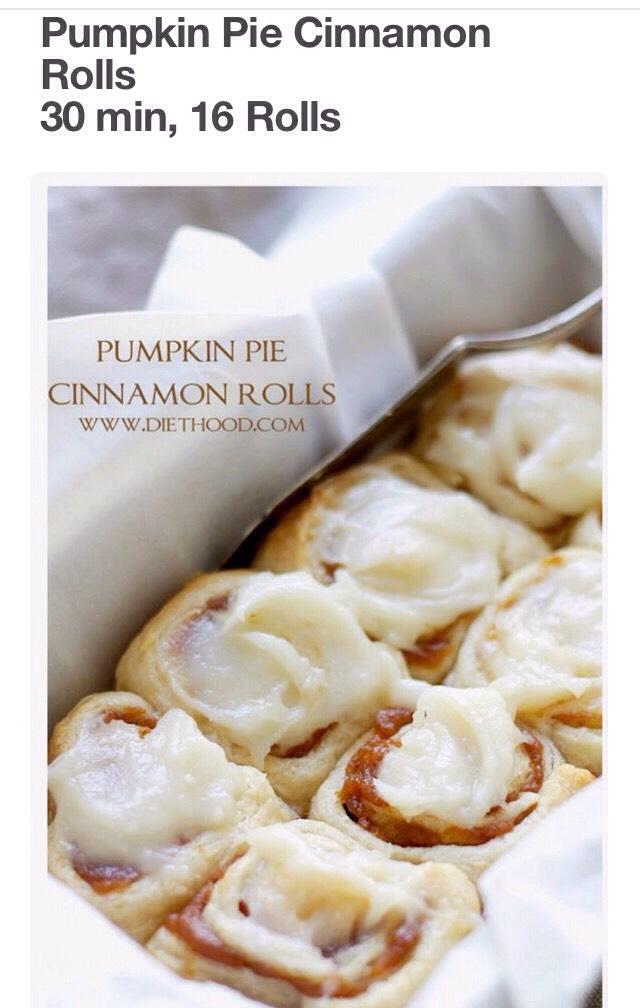 Pumpkin Pie Cinnamon Rolls 🎃