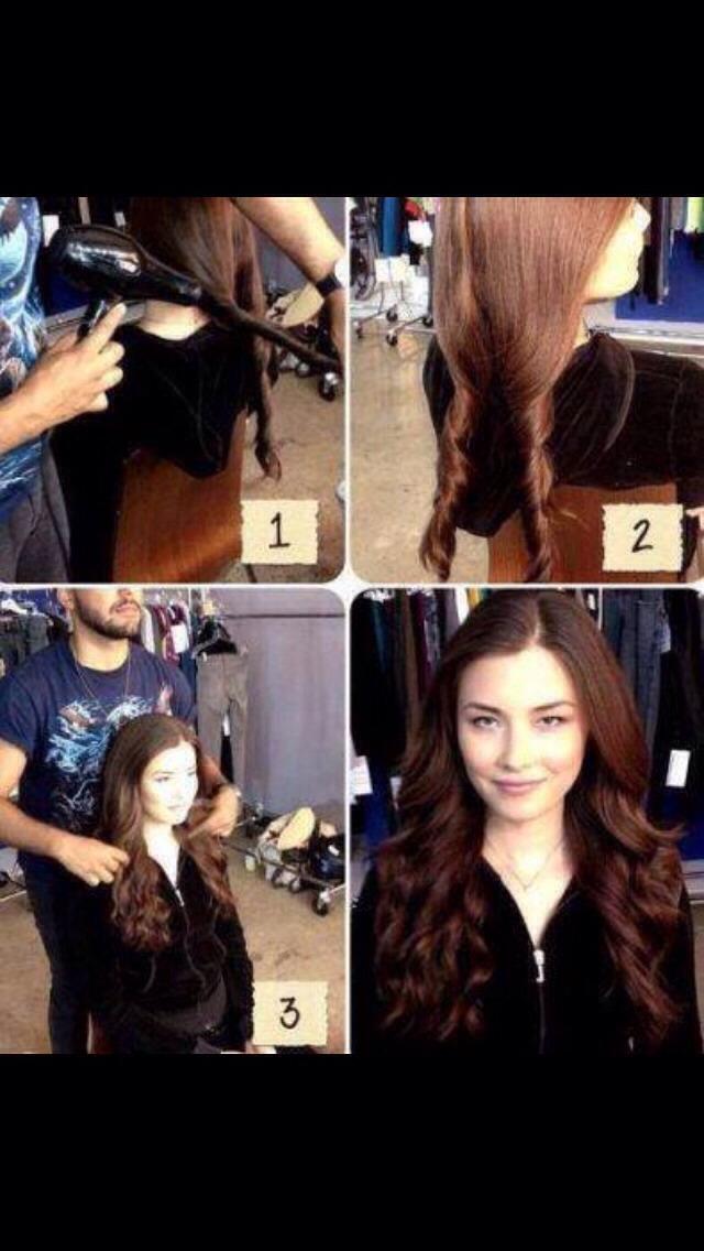 Как быстро сделать волосы волнистыми видео