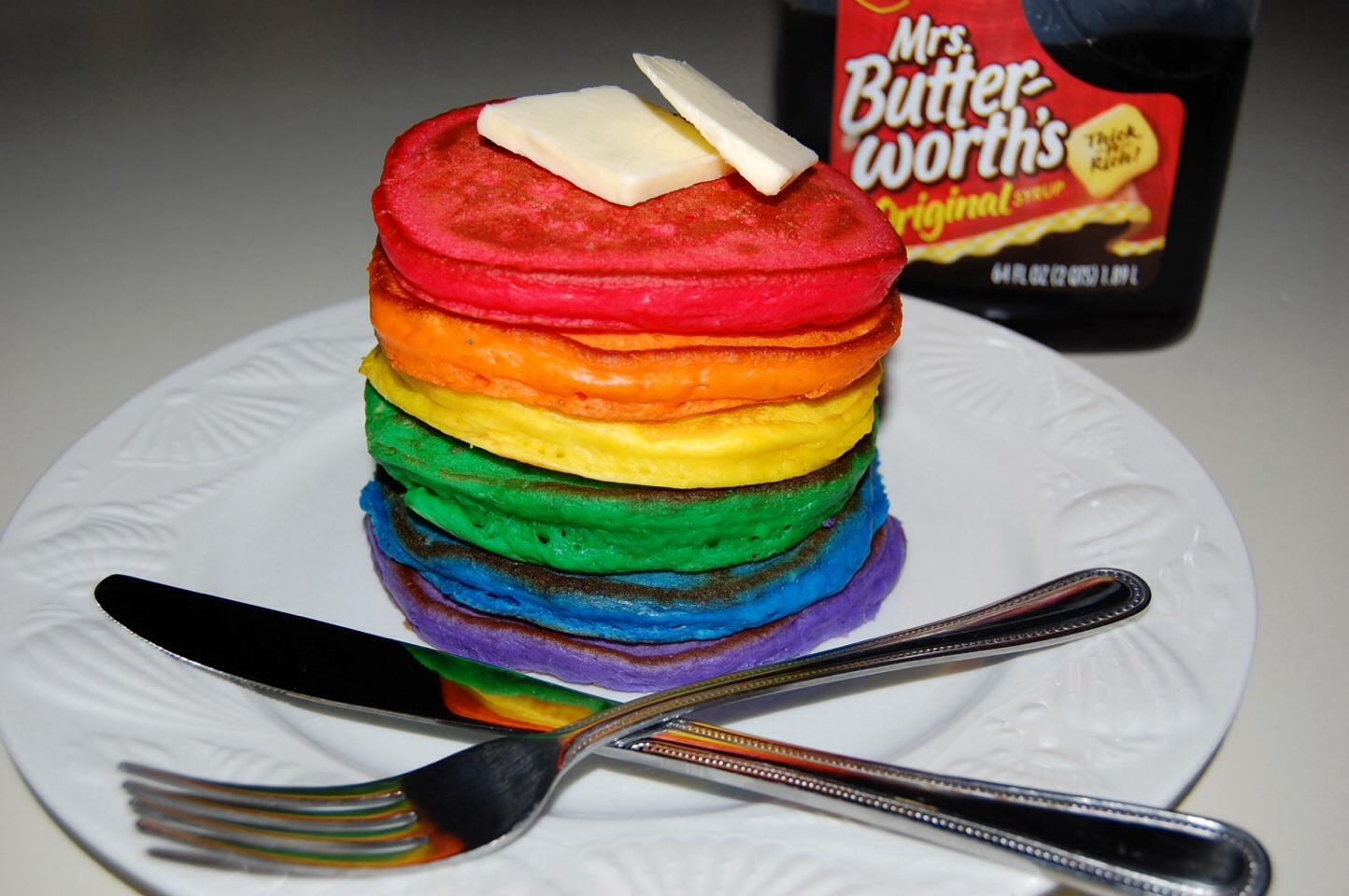 Step By Step Rainbow Pancakes 😋🌈 | Trusper