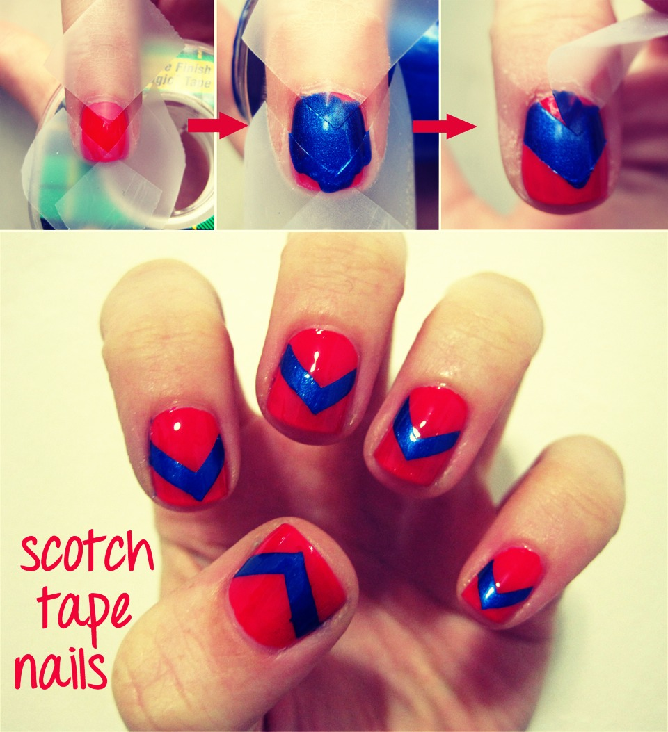 Easy Nail Art Using Tape: Use Tape For Easy Nail Art