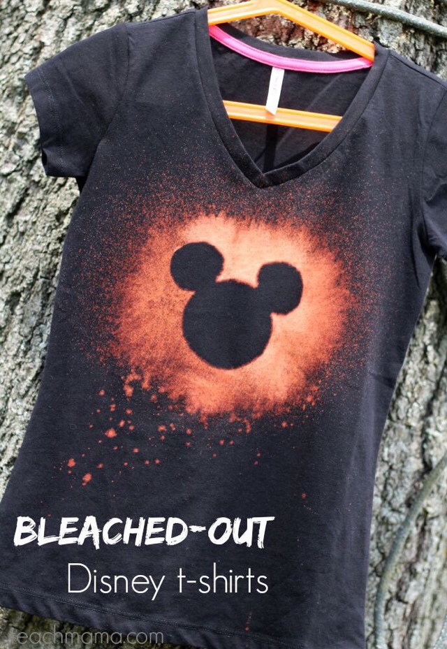 """""""DIY BLEACHED-OUT DISNEY T-SHIRTS"""""""