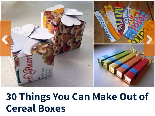 30 things you can be make out of cereal boxes trusper