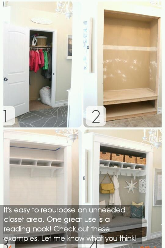 Turn closets into reading nooks