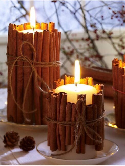Candles & Cinnamon Sticks - Best Smell Ever!