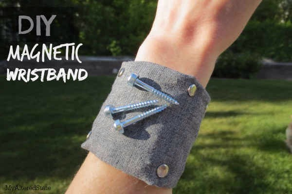 DIY Magnetic Wristband- Great Gift For Handy-person! #tipit