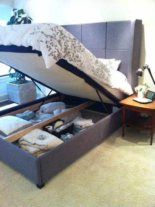 Awesome minimalist bed storage ideas trusper for Minimalist bed storage