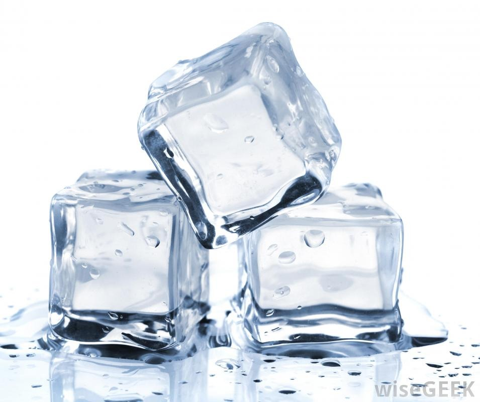 Rub Face With Ice Take an Ice Cube And Rub