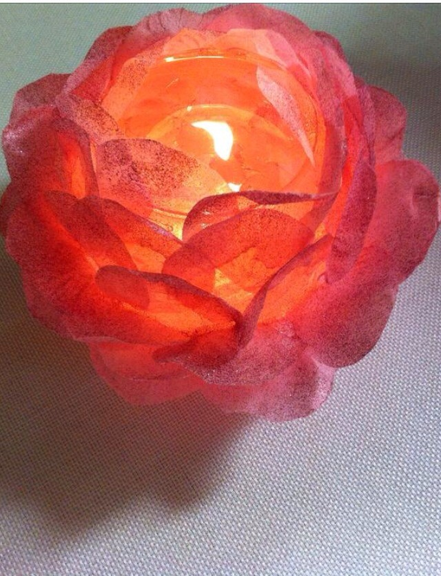 How To Create A Rose Bowl Votive