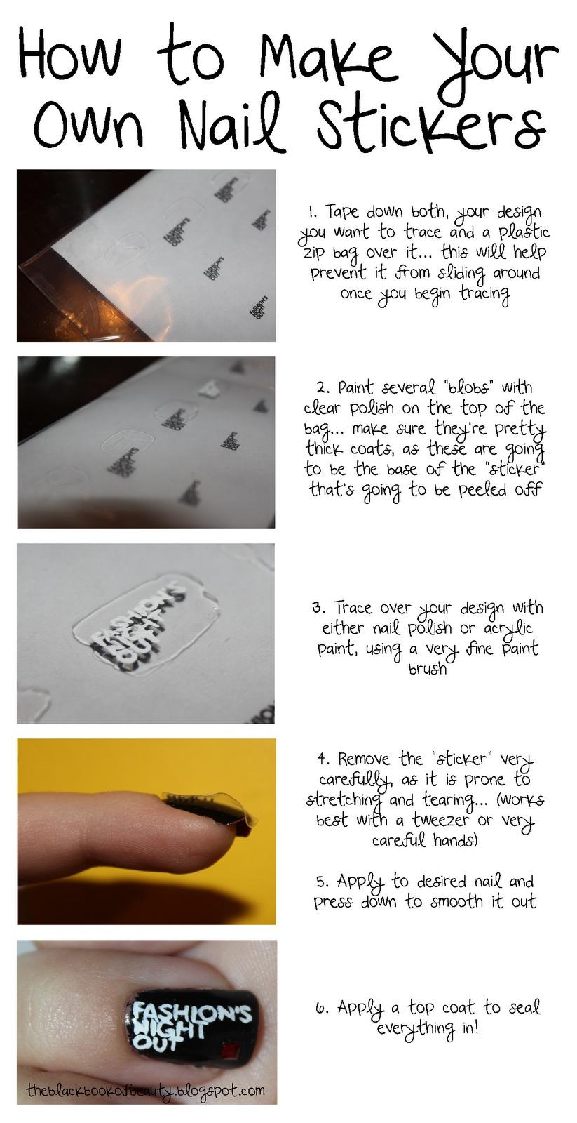 make your own nail stickers trusper