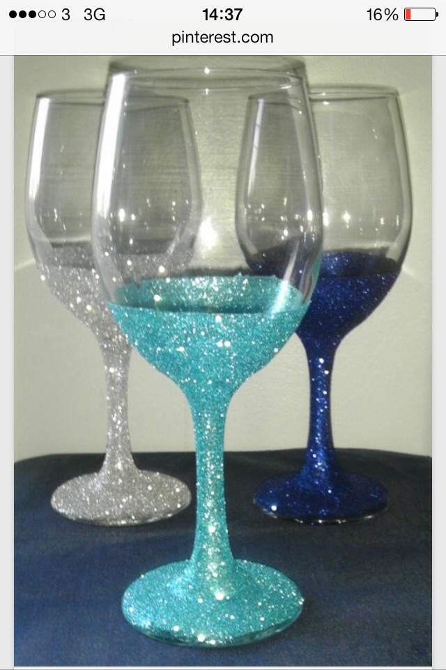 Simple way to make your wines glasses funky and different - Funky champagne flutes ...
