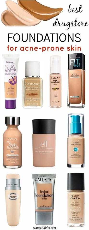 💖Best Drugstore Foundations For Acne-Prone Skin!💖