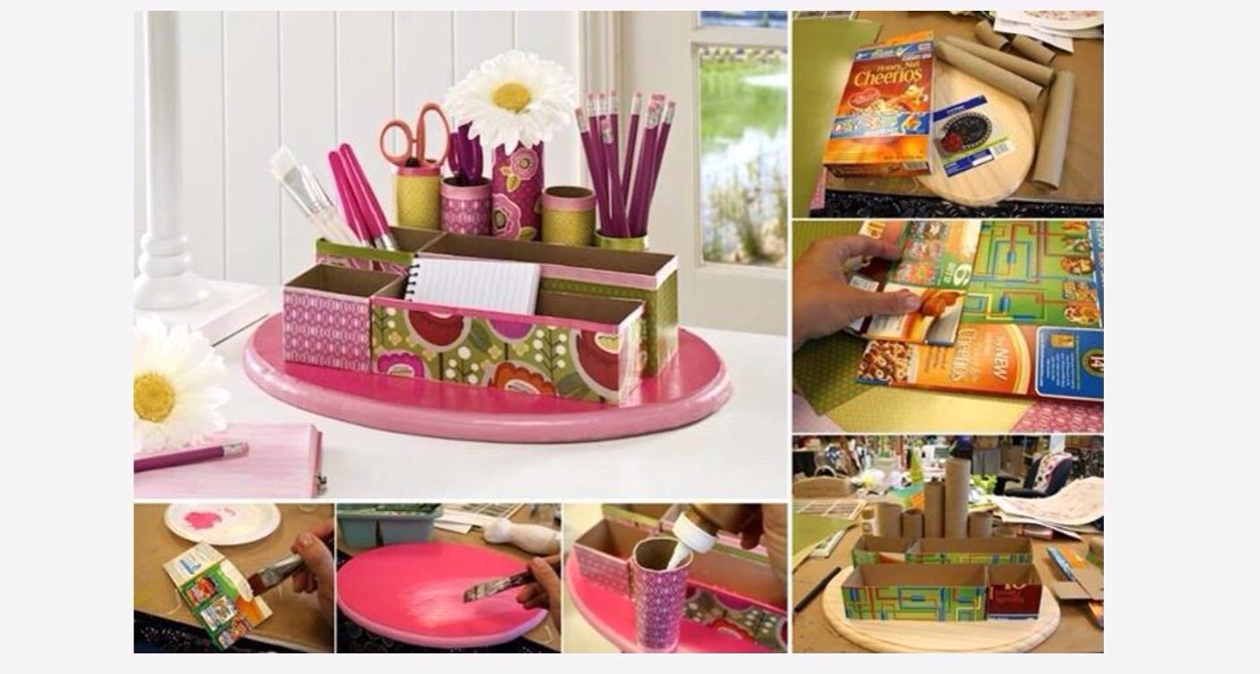 Make your own desk organizer pen holder trusper - Make your own desk organizer ...