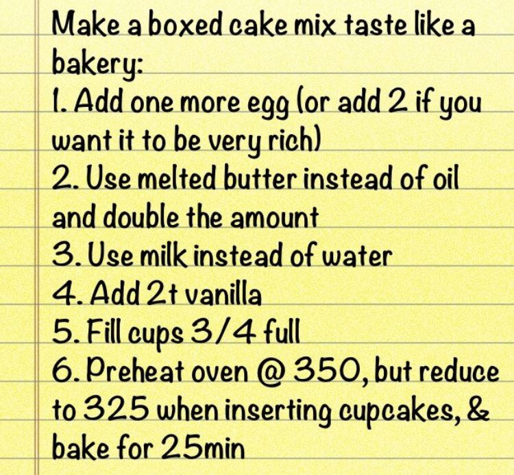 Tip Make A Cake Mix Taste Like Bakery