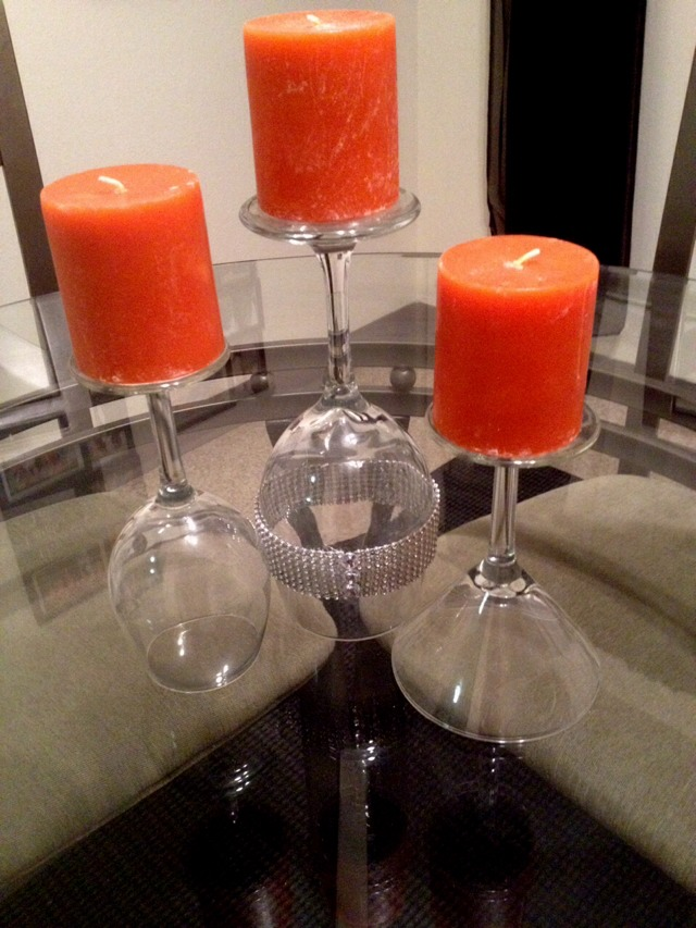 Diy how to make wine glass candle lamps tutorial