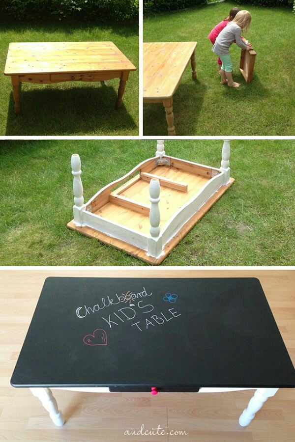 Turn An Old Coffee Table Into A Chalkboard For The Kids Trusper