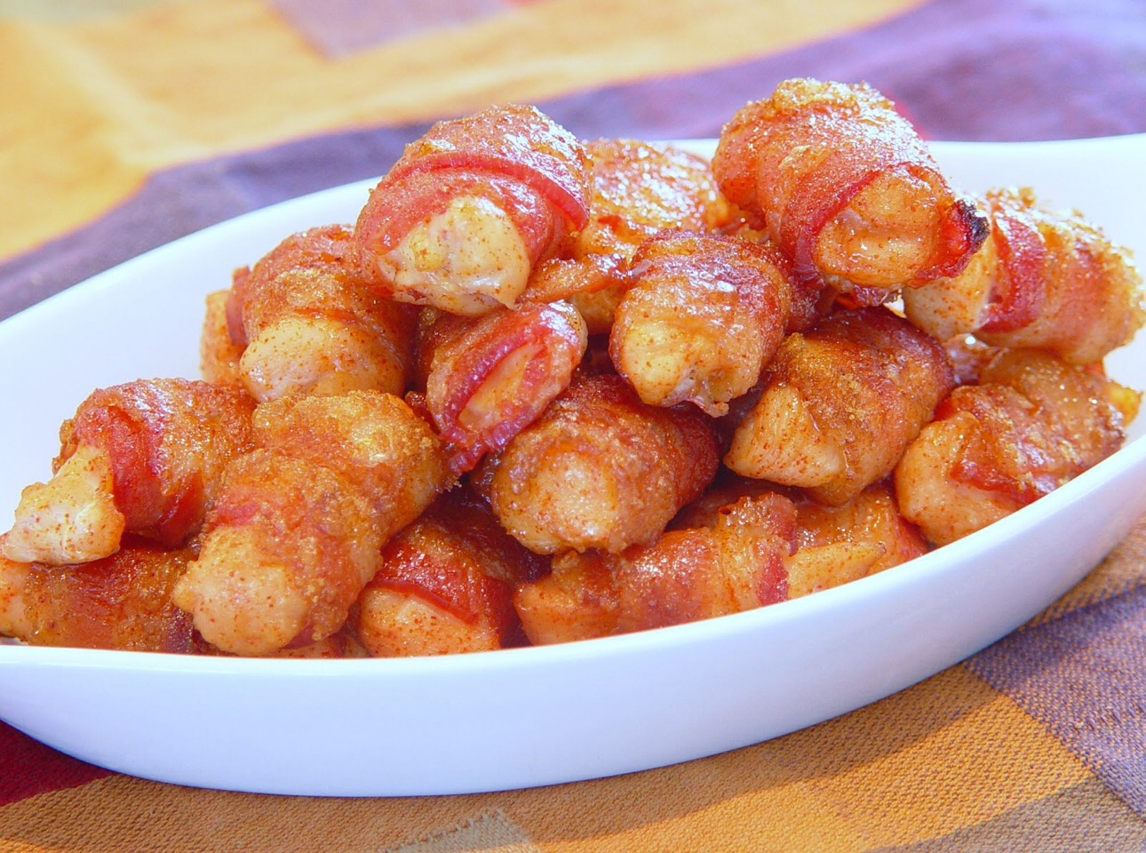 ... Appetizer Or Side Dish: Bacon Wrapped Chicken Bites | Trusper