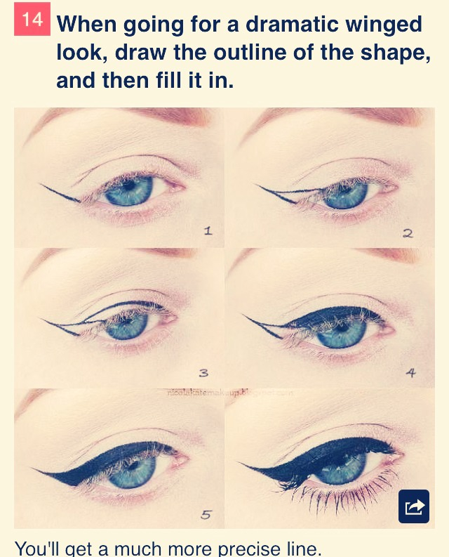 How To Get A Perfect Winged Eyeliner !(; : Trusper