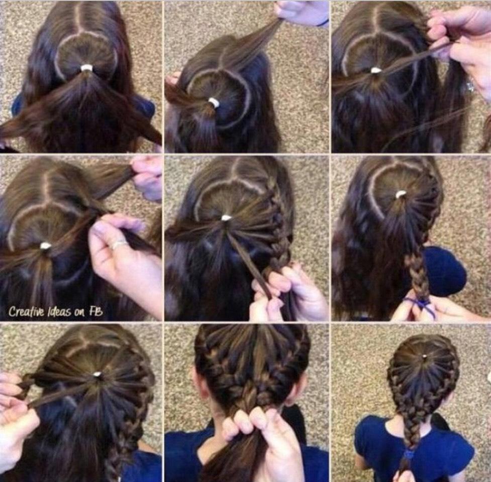 Прически косы на средние волосы пошагово
