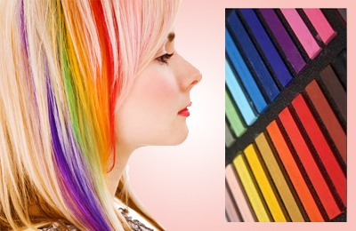 Get More Vibrant Color When Chalking Your Hair