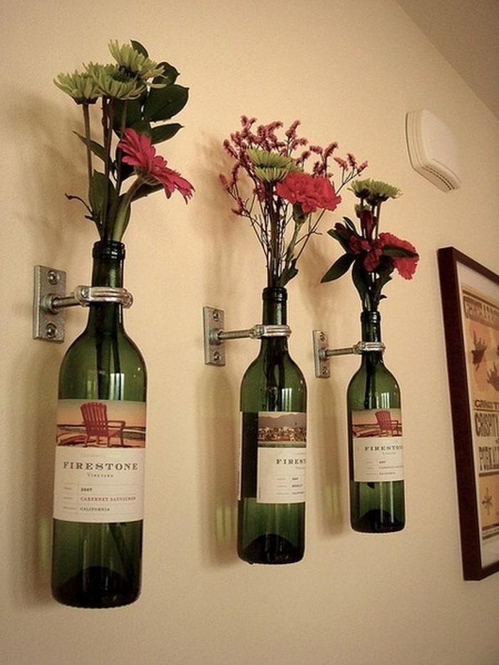 Please like for Wine bottle flower vase