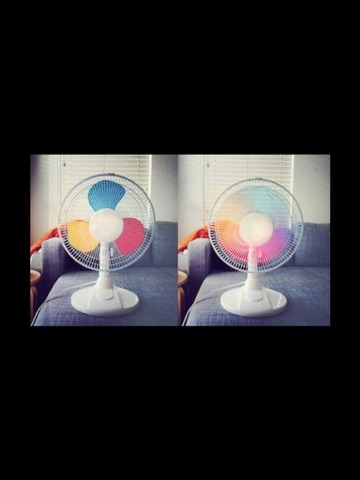 Colourful Fan